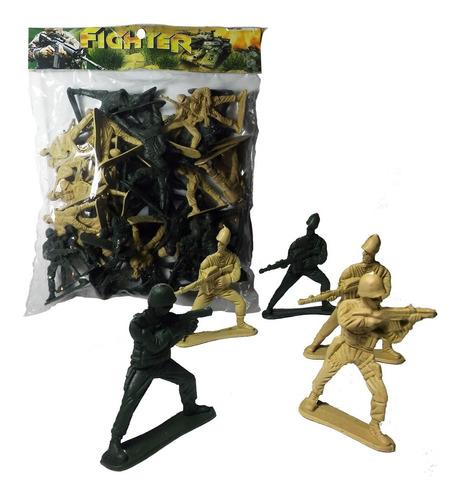 Soldados De Plástico X20u En Bolsa Rayuela Full