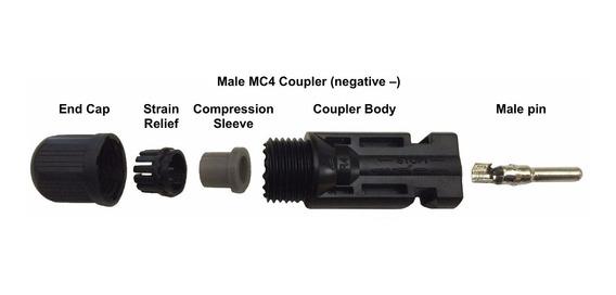 Kit 200 Conectores Mc4 2.5-6mm2 Para Painel Solar