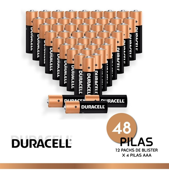 Pila Duracell Alcalina Aaa Pach X 48 Unidades