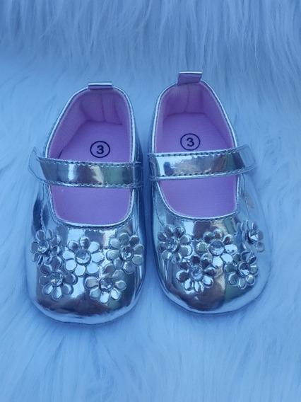Zapatos Bebe Plateado Dorada Nena No Caminante