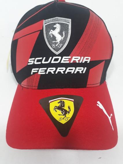 Boné Aba Curva Bombeta Scuderia Ferrari Fivéla !