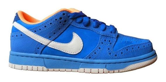 Tenis Nike Piel Azul Nuevos Originales #22.5
