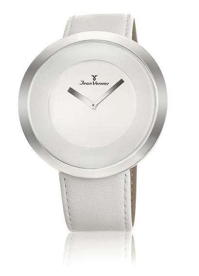 Relógio Jean Vernier Pulseira Couro Alta Qualidade Casual