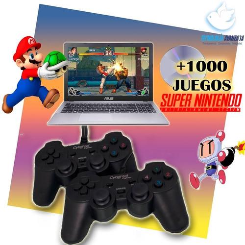 Dos Mandos Para Pc O Laptop + Cd1000 Juegos De Super Nintend