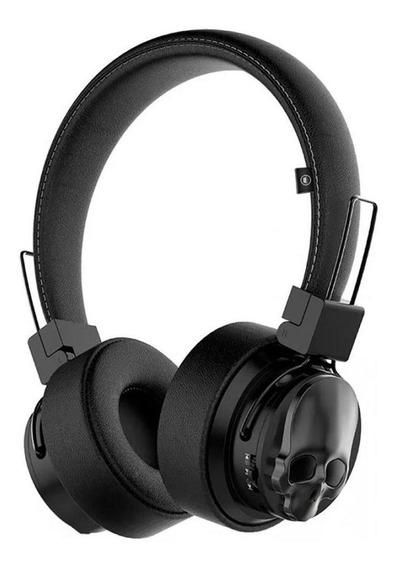 Fone De Ouvido K15 Kimaster Headphone Bluetooth Caveira