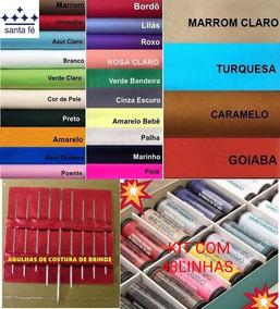 Feltro Comprar Online Kit 10 Retalhos + 48 Linhas + Agulhas