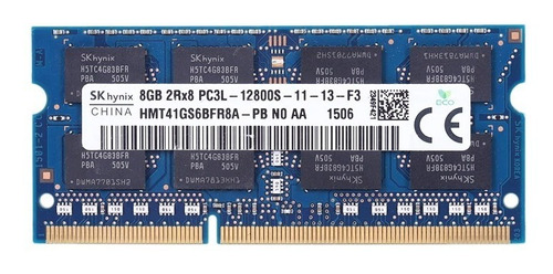 Imagen 1 de 2 de Memoria Ram Ddr3 8gb 12800/1600 Laptop Laptop Sk Hynix