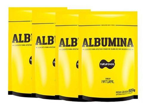 Combo - 4 Albumina Refil - 500g Natural - Naturovos