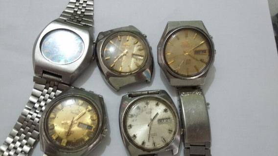 Lote De 5 Relógios Masculino Para Consertar (776f) R