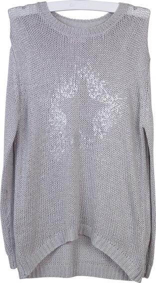 Sweater Gris Melange Girl Colloky