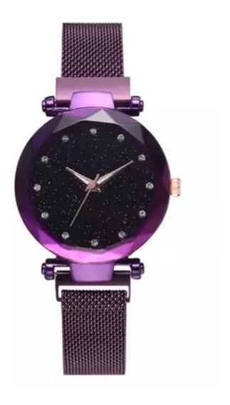 Reloj Corte Diamante Elegante Dama Con Caja