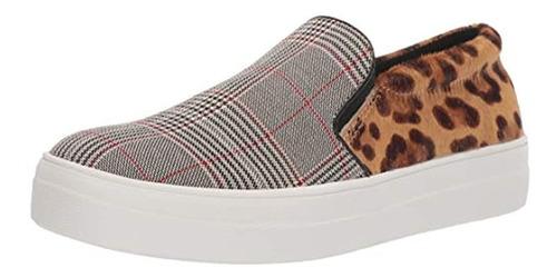 Steve Madden Women's Gills Sneaker, Leopard Multi, 7.5