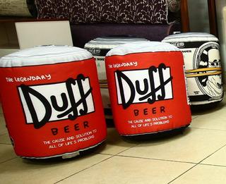 Puff Duff De Tela Impermeable Impresa