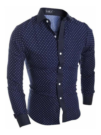 Camisa Hombre Caballero Slim Fit Moda Casual Formal Vestir