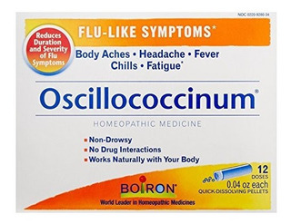 Boiron Oscillococcinum Para Sintomas De Gripe Caja De 12 Con