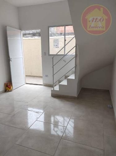 Sobrado Com 2 Dormitórios À Venda, 50 M² Por R$ 170.000,00 - Princesa - Praia Grande/sp - So0668