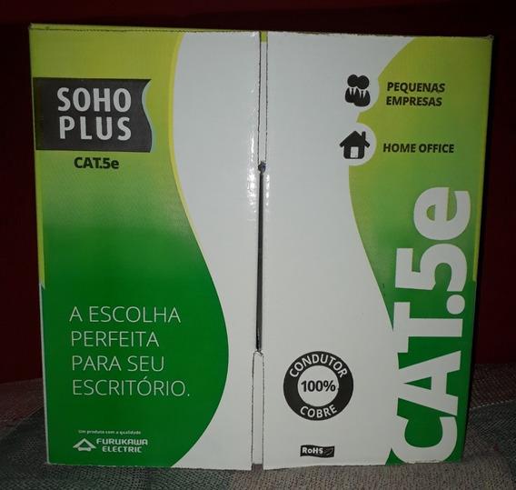 Cabo Rede Soho Plus Furukawa 305 Metros Cat5e 4 Pares Cobre