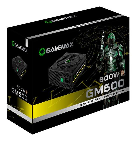 Fonte De Alimentação Atx Gamemax 600w Gm600