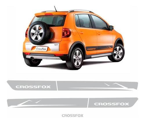Adesivo Faixa Lateral Volkswagen Crossfox 2010 2011 Prata