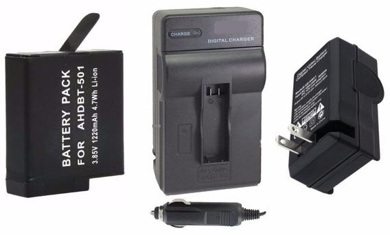 Bateria + Carregador P/ Câmera Gopro Hero 5 Hero 6 Ahdbt-501