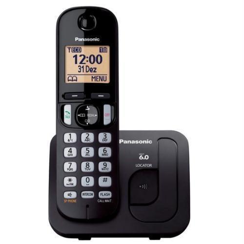 Telefone Panasonic Preto Sem Fio Ref.: Kx-tc210lbb