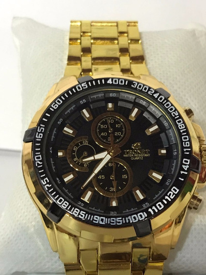 Relógio Masculino Tecnet 62828ch Resistente A Água Black