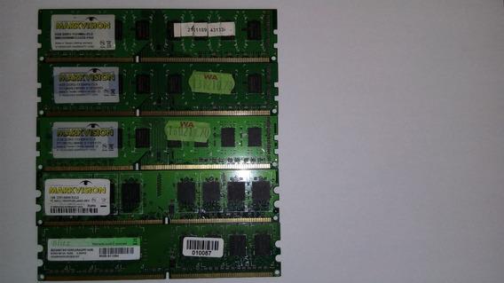 Lote De 5 Memorias Ram 1gb 2gb 4gb Ddr2 Dd3