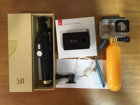 Action Camera Xiaomi Yi 4k Com Selfie Stick E Caixa Estanque