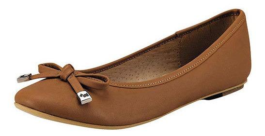 Zapato Flats Dama Pk 48092 Piel Ferrioni Camel
