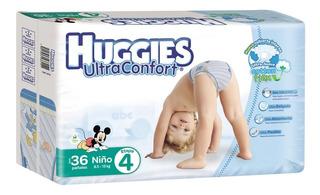 Huggies Ultra Confort Etapa 4 Niño 36 Pz