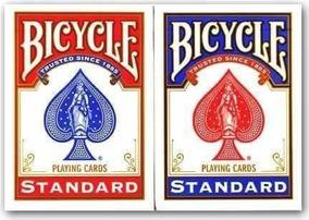 Par De Baralho Standard Bicycle ( Vermelho+preto Ou Azul)