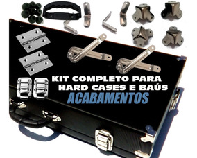 Kit Cantoneiras Alça Fecho Dobradiça Articulador Case Maleta