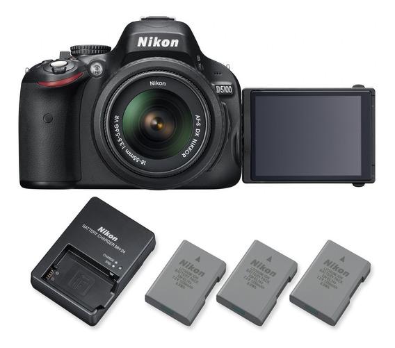 Nikon D5100 + 3 Baterias + Carregador + Case