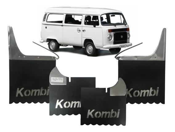 Kit Apara Barro Kombi Todas Lameiro Borracha 4 Peças C/nome