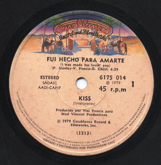 Disco Simple Kiss Fui Hecho Para Amarte / Tiempos Difíciles
