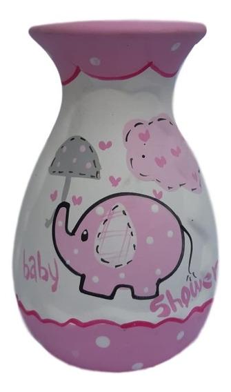 12 Recuerdo Baby Shower Centro De Mesa Elefante Niño Niña