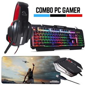 Kit Gamer Barato Teclado + Mouse + Headset + Mousepad 70x35