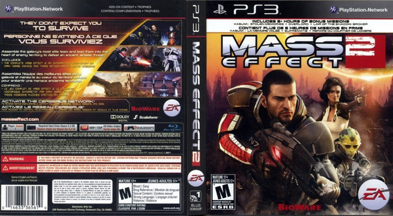 Jogo Mass Effect 2 Playstation 3 Ps3 Mídia Física