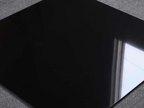 Porcelanato Negro Super Black, Pulido Rectificado 60x60