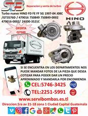 Reparación De Turbos Hino Fd, Fe, Ff, Sg ,fb J08c,h06 Guate