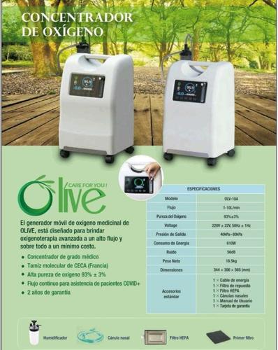 Generador Concentrador De Oxígeno Medicinal Olive H2o
