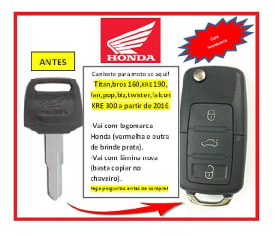 Chave Canivete Para Todas Motos Honda