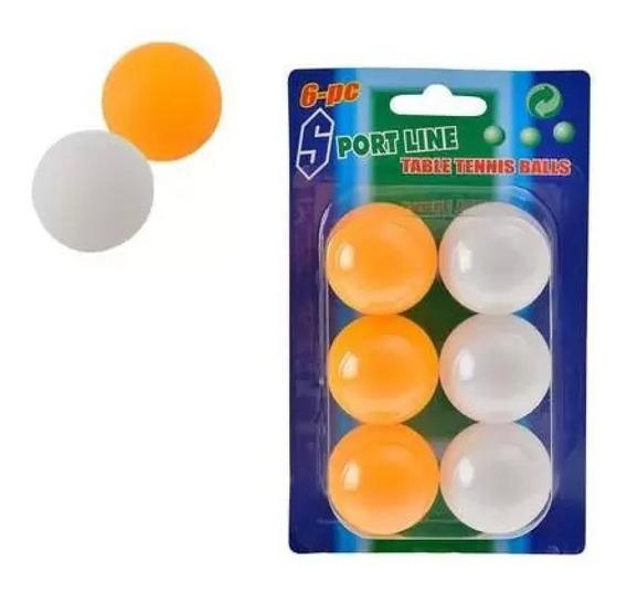Bolinha Ping Pong 6 Unidades Na Cartela Kit Bola Tenis Mesa