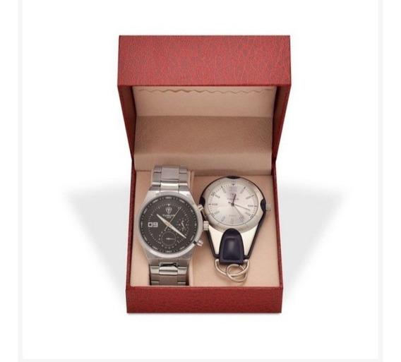 Kit Relógio Masculino Tuguir Analógico 5440g E Relógio Chave