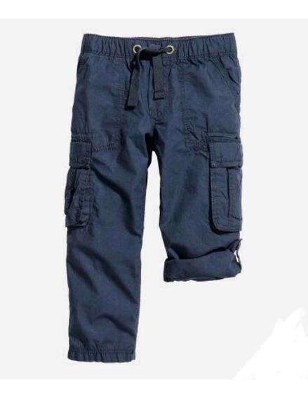 Pantalón Cargo H&m Nuevo. Azul Talle 8-9años