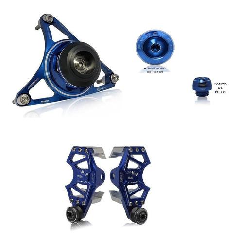 Kit Estrela + Tampa Motor Óleo Slider Traseiro Procton Xj6 N