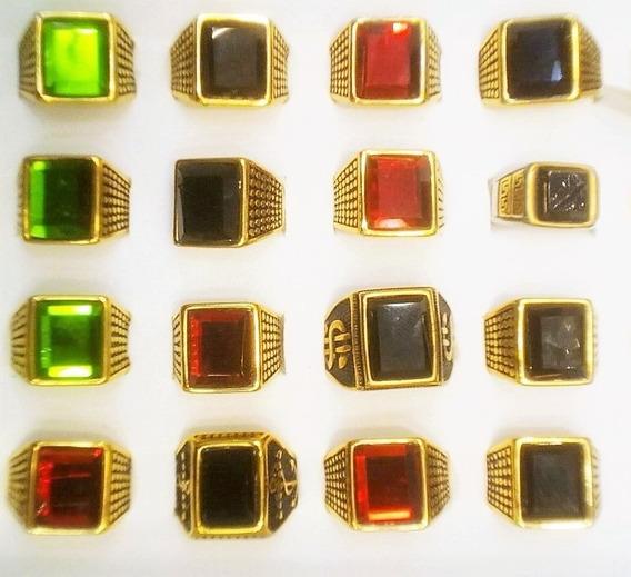 Anel Ostentação Vários Modelos - Prateado-dourado - Escolha