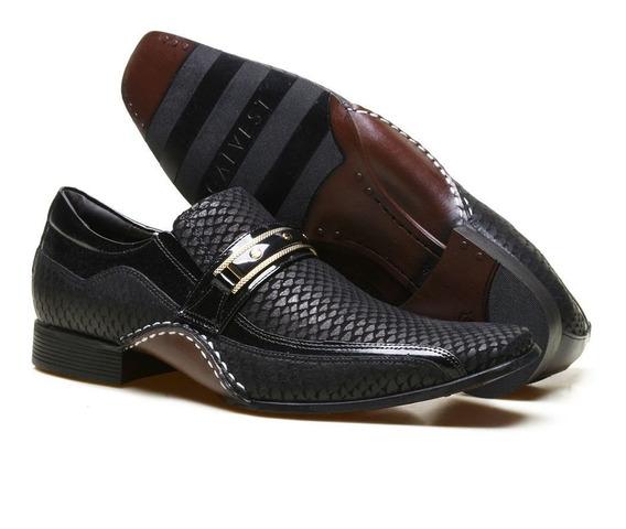 Sapato Social Masculino Calvest Em Couro Textura Casamento