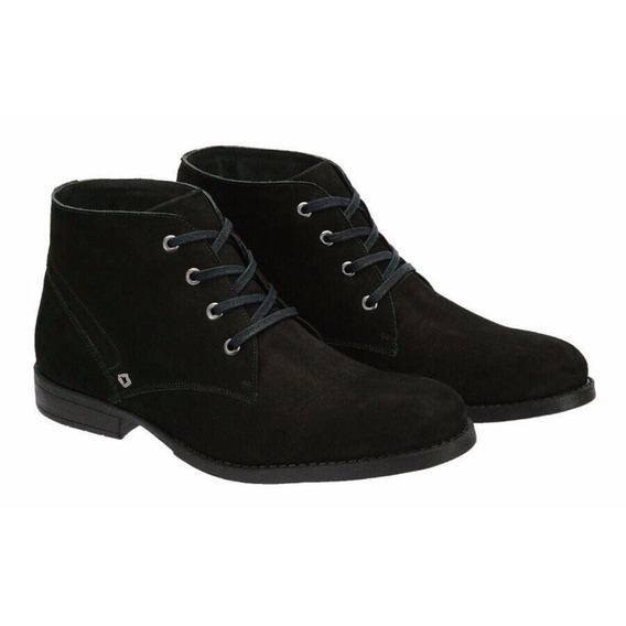 Boots Em Couro Cano Curto