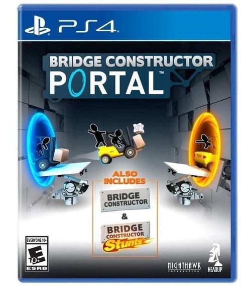 Jogo Novo Midia Fisica Bridge Constructor Portal Para Ps4
